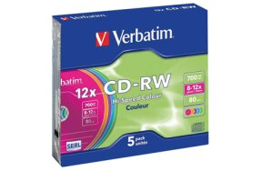 CD-RW VERBATIM SLIM CASE